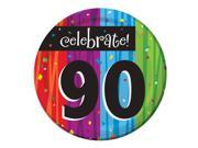 "Club Pack of 96 Milestone Celebrations """"Celebrate 90"""" Disposable Paper Party Lunch Plates 7"""""" 9SIA09A34D4356"