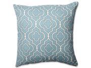 """18"""""""" Donetta Aqua Blue and Cream Lucky One Square Decorative Throw Pillow"""" 9SIA09A3V00965"""