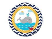 """Club Pack of 96 Ahoy Matey Disposable Paper Party Luncheon Plates 7"""""""""""" 9SIA09A34P3188"""