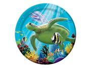 "Club Pack of 96 Tropical Ocean Party Luncheon Paper Party Plates 7"""""" 9SIA09A34D2076"