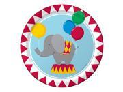 "Club Pack of 96 Circus Time! Disposable Premium Strength Paper Party Banquet Dinner Plates 9"""""" 9SIA09A48H2649"