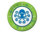 "Club Pack of 96 Ocean Preppy Boy Disposable Paper Party Lunch Plates 7"""""" 9SIA09A48H1083"