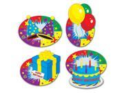 """Club Pack of 48 """"HAPPY BIRTHDAY"""" Cutout Party Decorations 12"""""""