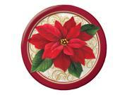 "Club Pack of 96 Poinsettia Lace Ensemble Disposable Paper Party Dinner Plates 9"""""" 9SIA09A48M2663"