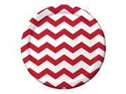 Club Pack of 192 Chevron/Dots - Classic Red Disposable Paper Party Dinner Plates 9' 9SIA09A34D3875