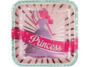 "Club Pack of 96 Princess Party Disposable Square Foil Paper Banquet Dinner Plates 9"""""" 9SIA09A34D5131"