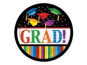 "Club Pack of 180 Graduation Fest """"Grad!"""" Disposable Paper Lunch Plates 7"""""" 9SIA09A3KR1163"