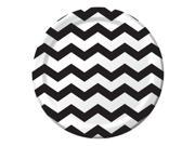 "Club Pack of 192 Chevron/Dots - Black Velvet Disposable Paper Party Dinner Plates 9"""""" 9SIA09A3514988"