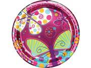 "Club Pack of 96 Butterfly Sparkle Disposable Foil Paper Premium Strength Party Dinner Plates 9"""""" 9SIA09A34D3565"