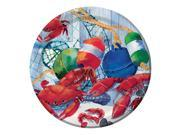 "Club Pack of 96 Seafood Celebration Round Decorative Party Plates 7"""""" 9SIA09A43Y3642"