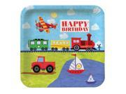 """Club Pack of 96 On the Go """"""""Happy Birthday"""""""" Disposable Square Paper Party Banquet Dinner Plates 9"""""""""""" 9SIA09A34D2708"""