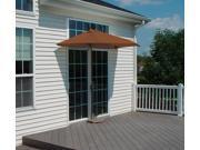 9' Half Canopy Patio Market Umbrella: Teak - Sunbrella 9SIA09A0999634