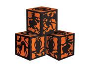 "Club Pack of 36 Decorative Orange and Black Halloween Favor Boxes 3.25"""""" 9SIA09A34X6588"