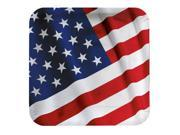 """Club Pack of 96 Stars and Stripes American Valor Square Disposable Paper Party Plates 9"""""""""""" 9SIADWS5VN8736"""