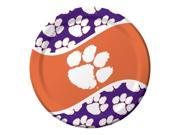 "Pack of 96 NCAA Clemson Tigers Round Tailgate Party Paper Dinner Plates 8.75"""""" 9SIA09A48H7691"