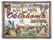 State of Oklahoma Tapestry Throw Blanket 50