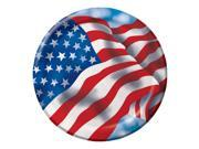 """Club Pack of 96 Patriotic Celebration Disposable Paper Lunch Plates 7"""""""""""" 9SIA09A34D3419"""