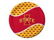 "96 NCAA Iowa State Cyclones Round Tailgate Party Paper Dinner Plates 8.75"""""" 9SIA09A49T5643"