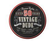 "Club Pack of 96 Vintage Dude """"50 Years"""" Disposable Paper Party Lunch Plates 7"""""" 9SIA09A34D4551"
