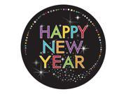 "Club Pack of 96 New Year Sparkle Disposable Paper Party Dinner Plates 9"""""" 9SIA09A3849092"
