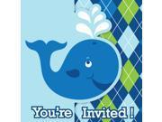 "Club Pack of 48 Blue Boy Ocean Preppy Themed Gate Fold Party Invitations 5"""""" 9SIA09A48G1473"