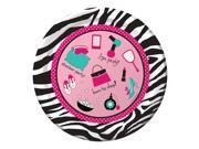 "Club Pack of 96 Pink Zebra Boutique Disposable Paper Party Dinner Plates 9"""""" 9SIA09A34D2729"