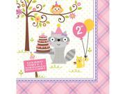 """Club Pack of 192 Happi Woodland Girl Premium 3-Ply Disposable Lunch Napkins 6.5"""""""""""" 9SIA09A34D3773"""