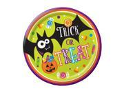 """Club Pack of 96 Gone Batty Multicolor Halloween """"""""Trick or Treat"""""""" Dinner Plates 9"""""""""""" 9SIA09A4315706"""