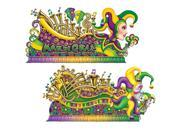Club Pack of 24 Colorful Mardi-Gras Jester Float Wall Decorations 5.5' x 5.58' 9SIA09A36E0194