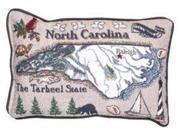 "Pack of 2 North Carolina Decorative Throw Pillows 8"""" x 12"""""" 9SIA09A43S3525"