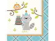 """Club Pack of 192 Happi Woodland- Boy Premium 3-Ply Disposable Party Beverage Napkins 5"""""""""""" 9SIA09A34D5276"""