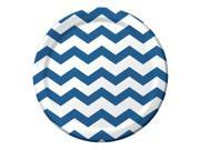 """Club Pack of 192 Chevron/Dots - True Blue Disposable Paper  Party Dinner Plates 9"""""""""""" 9SIA09A34D4079"""