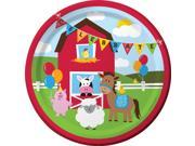 "Club Pack of 96 Farmhouse Fun """"Celebrate"""" Disposable Paper Party Banquet Dinner Plates 9"""""" 9SIA09A48H4768"