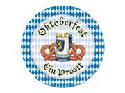"Pack of 96 Disposable Blue and White Oktoberfest Decorative Dessert Plates 7"""""" 9SIA09A3G85002"