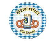 "Pack of 96 Disposable Blue and White Oktoberfest Decorative Dinner Plates 9"""""" 9SIA09A3AM4150"