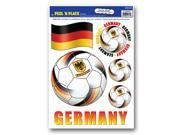 """Club Pack of 72 Black, Red and Yellow """"""""Germany"""""""" Peel 'N Place Soccer Balls and Flag Decals 17"""""""""""" 9SIA09A38J3907"""