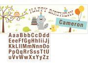 """Pack of 6 Blue and Green Giant Happi Woodland Boy Design """"""""Happy Birthday"""""""" Banners With Stickers 60"""""""""""" 9SIA09A34D3824"""