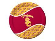 "Pack of 96 NCAA USC Trojans Round Tailgate Party Paper Dinner Plates 8.75"""""" 9SIA09A48F9877"