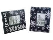 "Pack of 6 Black and White Snowflake Decorative Picture Frames 11.25"""""" 9SIA09A36E1224"