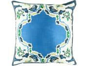 """22"""""""" Blue and White Floral Pattern Decorative Square Knife Edge Throw Pillow"""" 9SIA09A6ZN2566"""