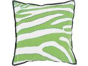 """22"""""""" Lime Green, Navy Blue and White Zebra Print Square Decorative Throw Pillow"""" 9SIA09A7446306"""