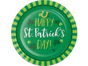 "Pack of 96 Dark Green and Light Green St. Patrick's Day Printed Rounded Plate 6.875"""""" 9SIA09A74N6241"