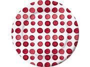 "Club Pack of 48 White and Red Disposable Dotted/Striped Luncheon Plates 8.25"""""" 9SIA09A75R0349"