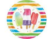 """Pack of 96 Multicolored Striped Ice Cream Disposable Party Dinner Plate 8.75"""""""""""" 9SIA09A7677774"""