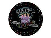 """Club Pack of 96 Colorful Chalk """"""""Happy Birthday to you"""""""" Dinner Party Plates 9"""""""""""" 9SIA09A3590786"""