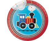 """Club Pack of 96 Vibrantly Colored All Aboard Disposable Luncheon Plates 6.8"""""""""""" 9SIA09A7851061"""