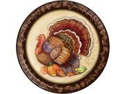 """Club Pack of 144 Brown and Ivory Thanksgiving Splendor Dinner Plates 8.75"""""""""""" 9SIA09A7CC7152"""
