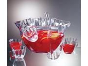 Clear Punch and Salad Bowl Combo - 12 Piece Set