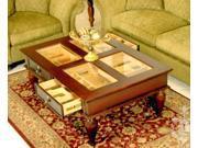 Dark Mahogany Coffee Table Humidor