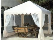 10x10 Garden Party Canopy w/ top and screens